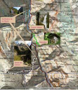 Mapa ruta a Rubriellos.