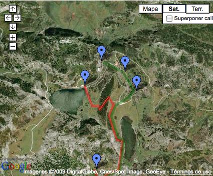 earthruta1 - Ruta por los Lagos de Covadonga.
