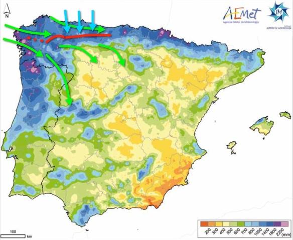 mapa del tiempo de Asturias