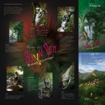 Mapa en papel con fotos y texto explicativo de las figuras mitolgicas que se encuentran en la Ruta. Picos de Europa