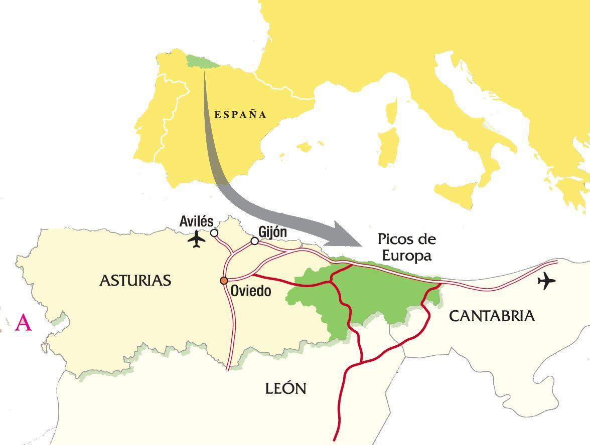 picos de europa españa mapa