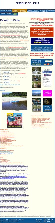 Los Cauces turismo activo, picos de europa, sella canoas