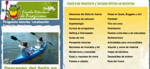 Escuela asturiana, turismoactivo, picos de europa, sella, piragüas
